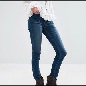 Free People Beverley High Waisted Slim Jeans
